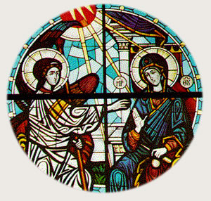 Iconography in glass at the Greek Orthodox church in Columbus, OH