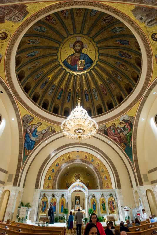 Looking heavenward to Christ Pantocrator